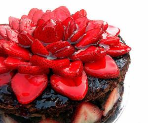 cake, chocolate, and strawberrys image