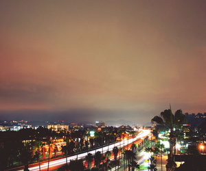 california, city, and light image