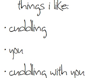 love, cuddling, and you image