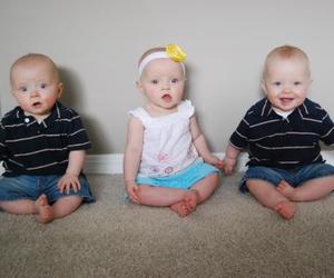 boys, girl, and triplets image