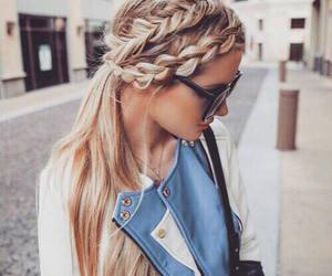 hair, fashion, and braid image