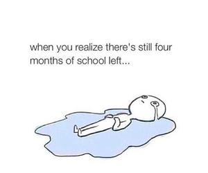 school, funny, and sad image