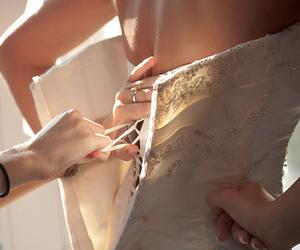 adorable, dress, and wedding image