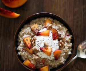 food, healthy, and peach image