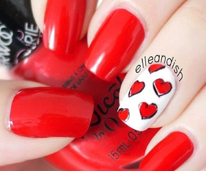 nails, heart, and love image