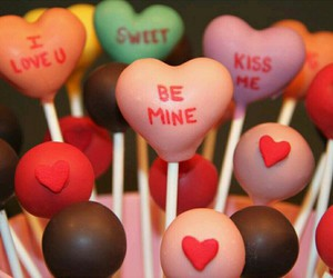 cake pops, conversation, and food image