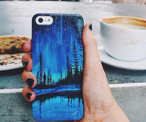 iphone, blue, and cool image