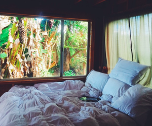 bed, beautiful, and summer image