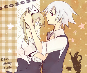 anime, couple, and maka albarn image