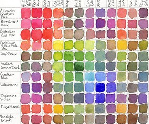 colors, rainbow, and watercolor image