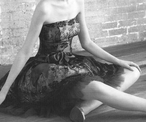 b&w, pretty, and ballet image