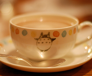 totoro, cup, and tea image