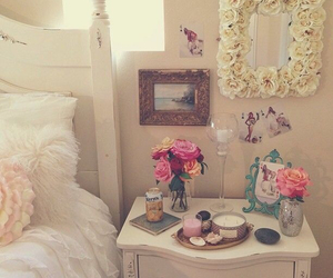 room, flowers, and bedroom image
