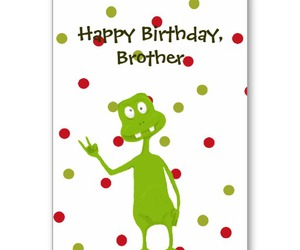 space alien, happy birthday brother, and birthday.birthday card image