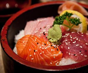 fish, food, and japanese food image