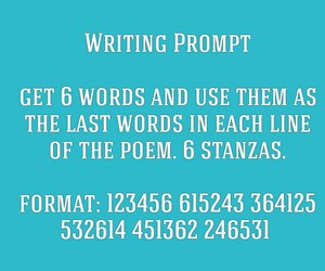 poem, writing, and prompt image