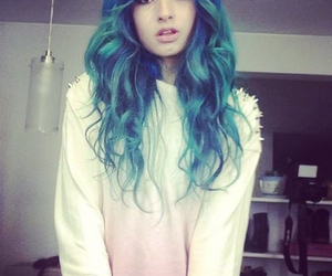 hair, blue, and laura sanchez image