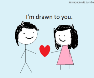 drawn, heart, and stick figures image