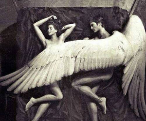 angel, bed, and wings image