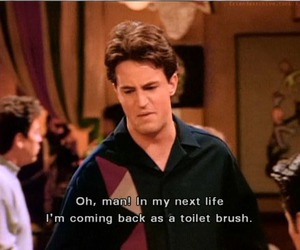quotes, chandler bing, and subtitles image