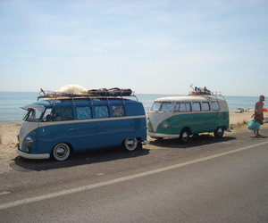 beach, car, and vw image