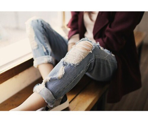 jeans, outfit, and sweater image