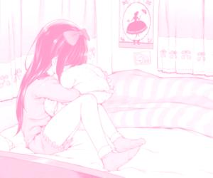 anime girl, bed, and manga image