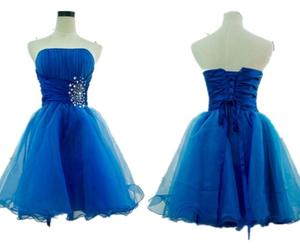 blue, formal dress, and elegant image