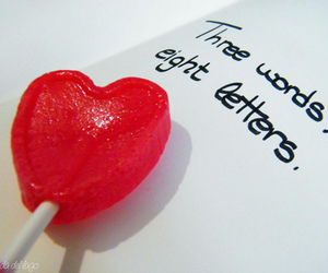 heart, I Love You, and letters image