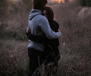 Sweet hug couple