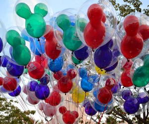 ballons, colors, and disney image