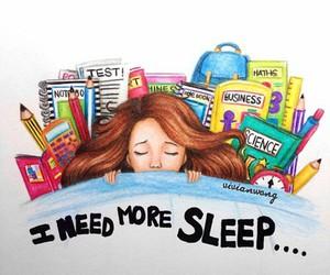 sleep, school, and need image