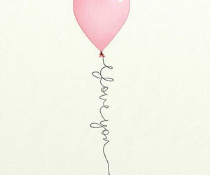 love, heart, and balloons image