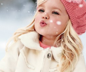baby, snow, and sweet image