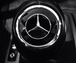 black and white, car, and mercedez benz image