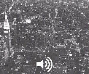 city, music, and light image