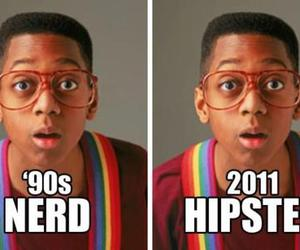 hipster, nerd, and funny image