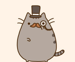 cat, pusheen, and mustache image