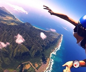 jump, skydiving, and sky image