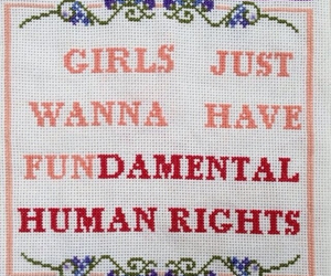 girl, feminism, and rights image