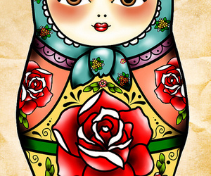 russian doll and tattoo image