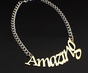 chain necklace, jewelry, and pendant necklace image
