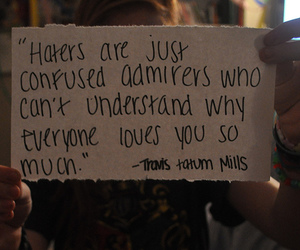 quote and haters image