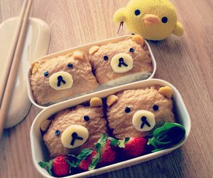 food, bear, and rilakkuma image