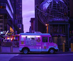 purple, ice cream, and city image