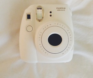 polaroid, camera, and white image