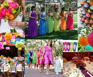 rainbow wedding image