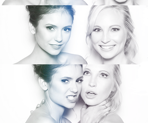 Nina Dobrev, candice accola, and caroline image