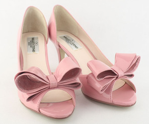 pink valentino high heels and valentino bow pumps image