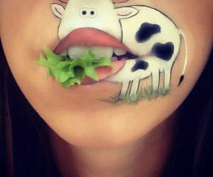 cow, lips, and mouth image